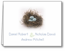 Blessed Nest Boy Triplets Note Card