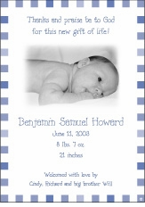 Blocks Boy Photo Birth Announcement