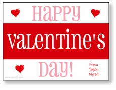 Bold Stripe in Pink Personalized Valentine
