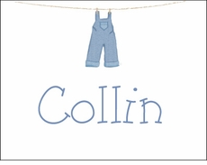 Boy Clothesline Note Cards