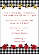 Bumble Bees & Ladybugs Invitation