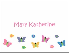 Butterfly Row Note Cards