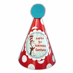 Cat In The Hat Birthday Party Personalized Hats
