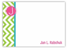 Chevron Fun Lucious Lime Note Card