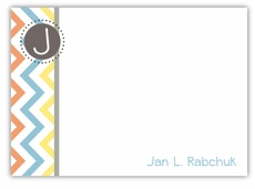 Chevron Fun Shabby Chic Note Card