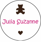 Chocolate Bear Circle Sticker
