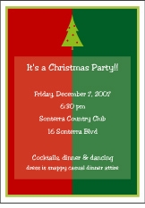 Christmas Color Block Holiday Party Invitation