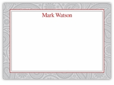 Classic Paisley Bold Brick Note Card