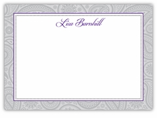 Classic Paisley Proud Purple Note Card