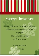 Classic Whimsy Christmas Invitation