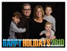 Clean Cut Happy Holidays Photo Card