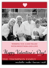 Color Bands Photo Valentine�s Day Photo Card