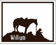 Cowboy Silhouette Note Cards