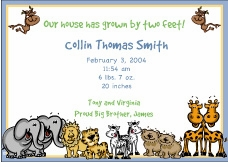 Critters Boy Birth Announcement