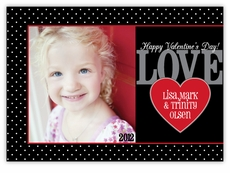 Dainty Dots Photo Valentine�s Day Photo Card