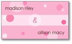Delicious Dots Twin Girls Enclosure Card