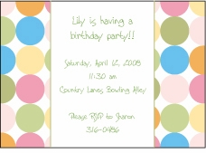 Disco Dots Multi Party Invitation