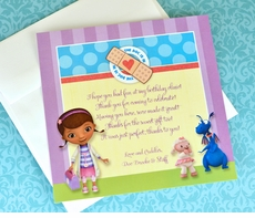 Doc McStuffins Easy Peasy Preprinted Square Thank You Notes