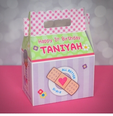 Doc McStuffins Party Gable Favor Box<br>Pink & Green