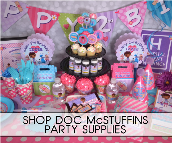 doc mcstuffins party supplies rh acc123 com Doc McStuffins Food doc mcstuffins candy buffet ideas