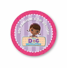 "Doc McStuffins Personalized 2.25"" Glossy Stickers"