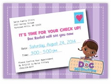 Doc McStuffins Personalized Birthday Invitations