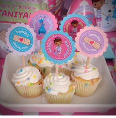 Doc McStuffins Personalized Cupcake Picks