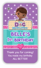 Doc McStuffins Personalized Favor Bag Tags