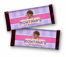 Doc McStuffins Personalized Full Size Hershey's Candy Bar Wrappers