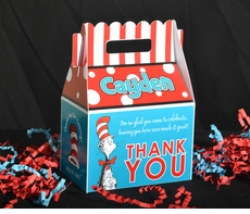 Dr. Seuss Cat in the Hat<br>Personalized Gable Box Favor