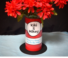 Dr Seuss Cat in the Hat Vase<br>Personalized Baby Shower Centerpiece
