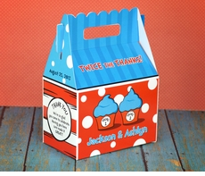 Dr. Seuss Thing 1 & Thing 2 Cupcakes<br>Personalized Gable Box Favor
