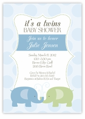 Personalized Themed Twin Baby Shower Invitations Amys Card