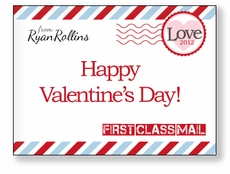 First Class Mail Personalized Valentine
