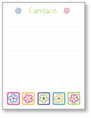 Flower Blocks Scratch Pad