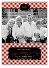 Gingham Classic Valentine's Day Photo Card