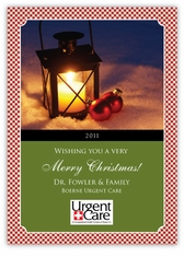 Gingham Stock Photo Corporate Holiday Photo Card