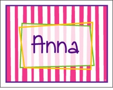 Girl Fun Stripes Note Card