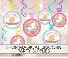 Golden Unicorn Birthday Party Supplies