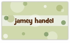 Green Delicious Dots Calling Card