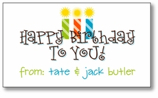 Happy Birthday Twin Boys Enclosure Card