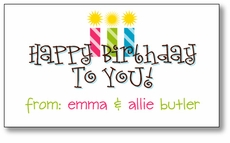 Happy Birthday Twin Girls Enclosure Card