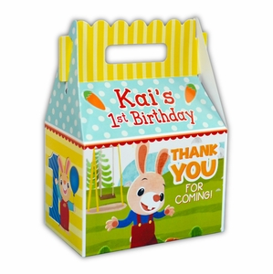 Harry the Bunny Party Personalized Gable Favor Box
