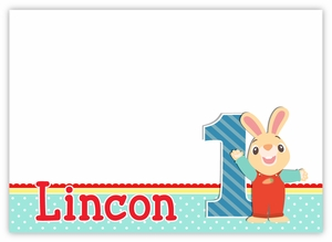 Harry the Bunny Personalized Note Cards