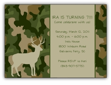 Hunting Camo Birthday Invitation