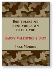 Hunting Camo Personalized Valentine