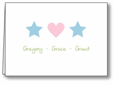 Icons G&B Triplets Note Card