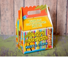 Island Luau Tiki Surf Party<br>Personalized Gable Box Party Favor