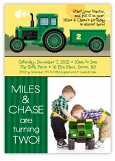 John Deere Tractor Birthday Personalized Photo Invitations