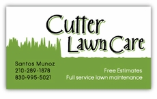Lawn Care or Landscape Business Cards